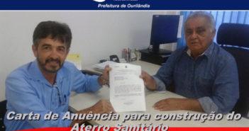 Prefeitura de Ourilândia recebe carta de anuência para construção de aterro sanitário