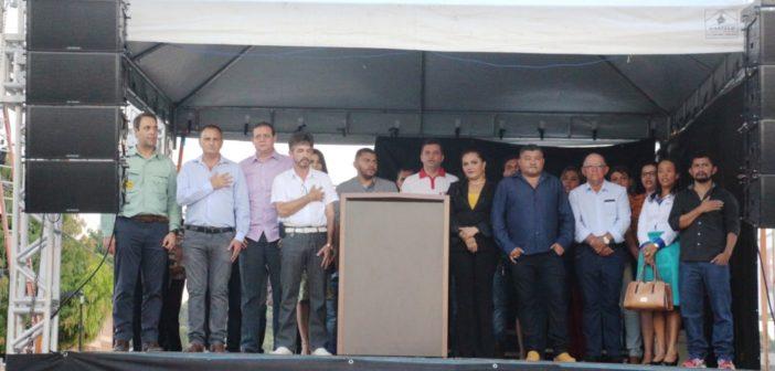 A prefeitura de Ourilândia e VALE, inauguram a policlínica Jesus Cândido dos Santos