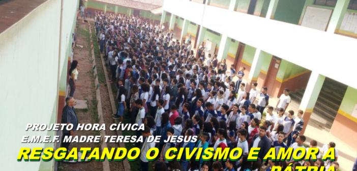 Prefeitura de Ourilândia, através da Secretaria de Educação, resgatando o civismo