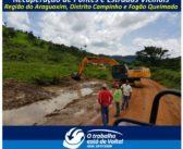 Prefeitura de Ourilândia, recupera estradas vicinais, pontes e bueiros destruídos pelas forte chuvas.
